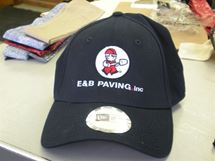 Picture of New Era Navy Fitted E&B Hat. NE1000