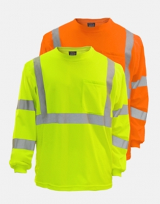 Picture of Hi Vis Safety Long Sleeve Shirt VEA-204-ST (SAFETY ORANGE IS NOT AVAILABLE IN TALL SIZES)