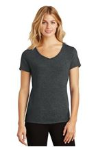 Picture of District Made® Ladies Perfect Tri® V-Neck Tee. DM1350L
