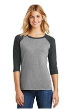 Picture of District Made® Ladies Perfect Tri® 3/4-Sleeve Raglan. DM136L