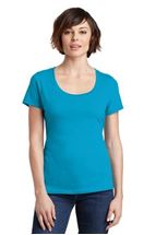 Picture of District Made® Ladies Perfect Weight® Scoop Tee. DM106L