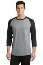 Picture of Port & Company® Core Blend 3/4-Sleeve Raglan Tee. PC55RS