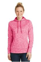 Picture of Sport-Tek® Ladies PosiCharge® Electric Heather Fleece Hooded Pullover. LST225