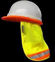 Picture of VEA-809: Hi Vis Safety Hard Hat Sun Shade