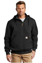 Picture of Carhartt ® Rain Defender ® Paxton Heavyweight Hooded Zip Mock Sweatshirt. CT100617