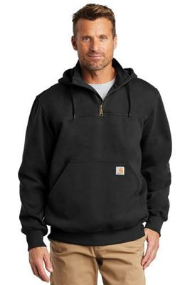 Picture of Carhartt ® Rain Defender ® Paxton Heavyweight Hooded Zip Mock Sweatshirt. CT100617