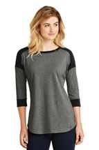 Picture of New Era® Ladies Heritage Blend 3/4-Sleeve Baseball Raglan Tee. LNEA104