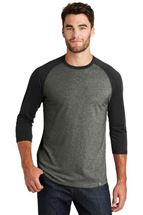 Picture of New Era® Heritage Blend 3/4-Sleeve Baseball Raglan Tee. NEA104